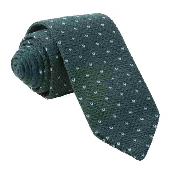 Birdseye Knit Hunter Tie