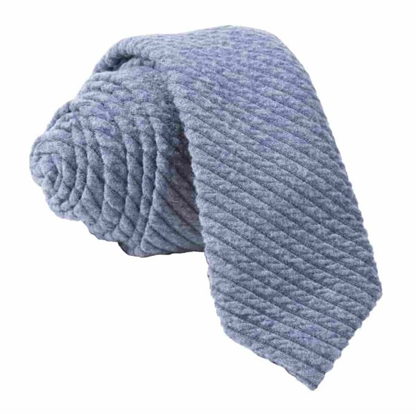 Quilted Knit Slate Blue Tie