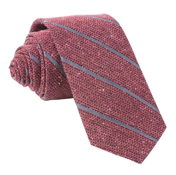 Decruise Stripe Raspberry Tie
