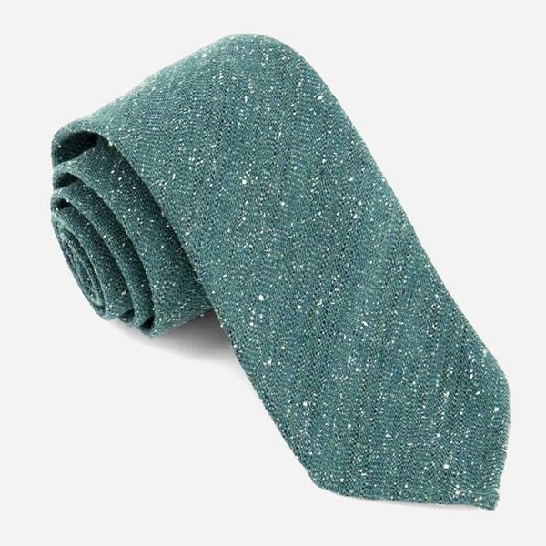 Unlined Textured Solid Hunter Green Tie