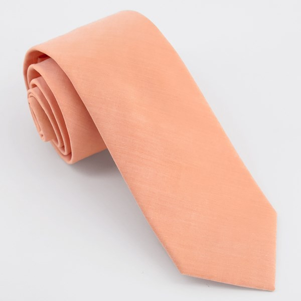 Sundown Solid Orange Tie