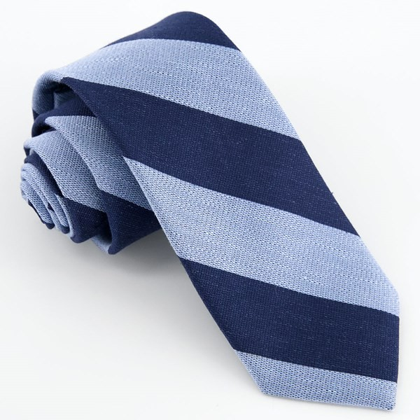 Varsity Bar Stripe Navy Tie
