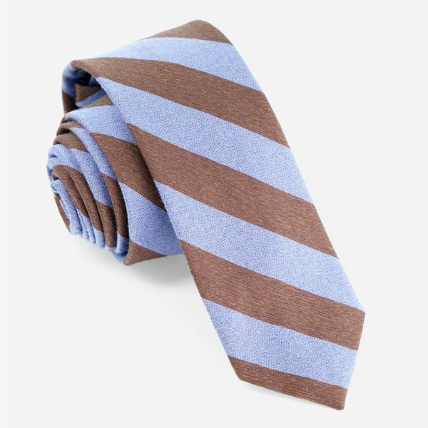 Textured Double Stripe Serene Blue Tie