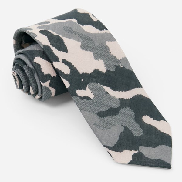 City Safari Charcoal Tie