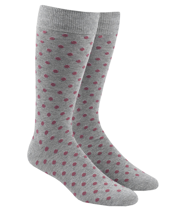 Circuit Dots Marsala Dress Socks