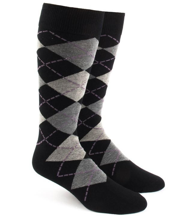 Argyle Warm Grey Dress Socks