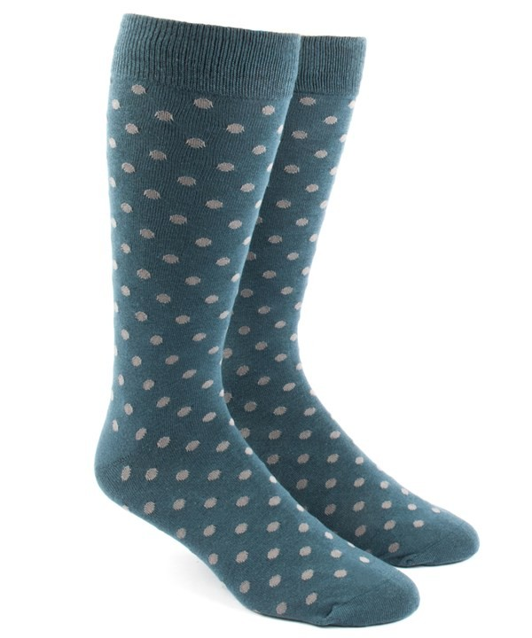 Circuit Dots Teal Dress Socks