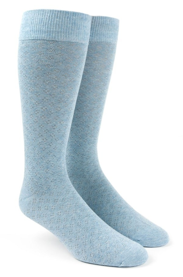 Speckled Light Blue Dress Socks