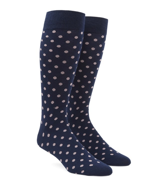 Circuit Dots Light Pink Dress Socks