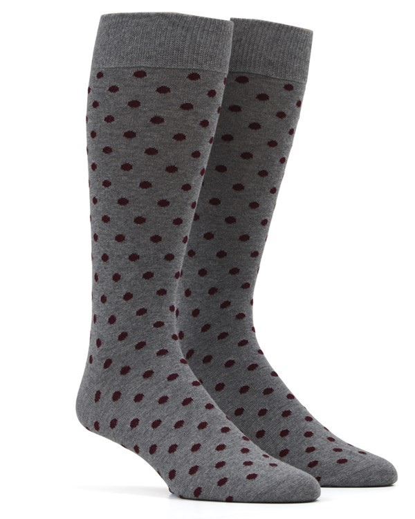 Circuit Dots Burgundy Dress Socks
