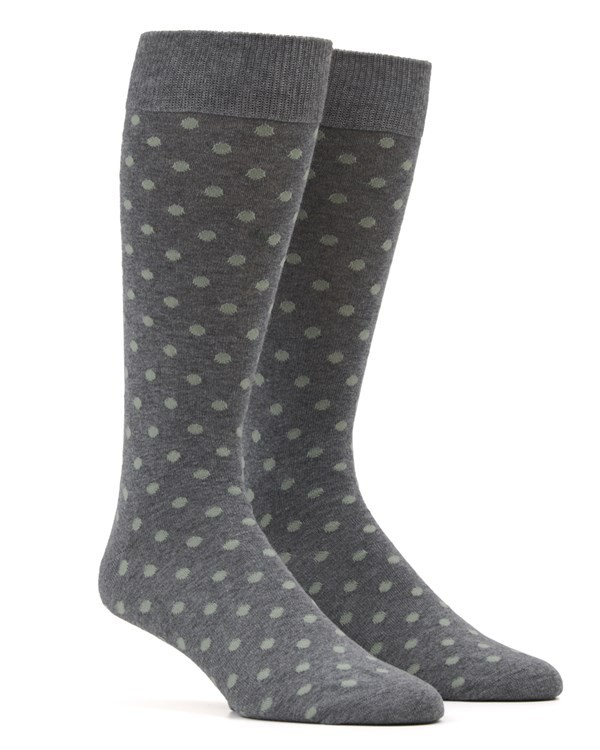 Circuit Dots Sage Green Dress Socks