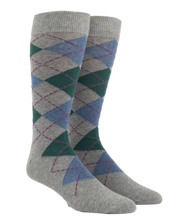 Argyle Hunter Green Dress Socks