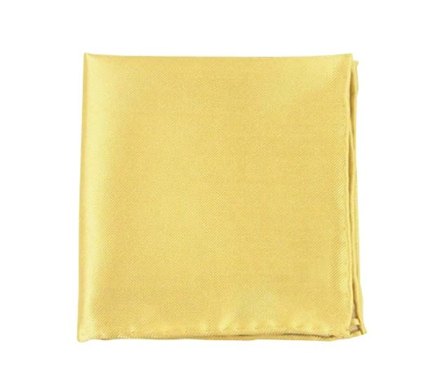 Solid Twill Butter Pocket Square