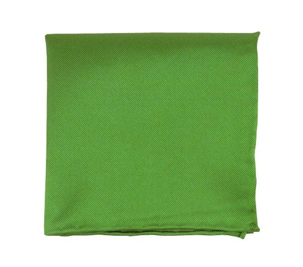 Solid Twill Kelly Green Pocket Square