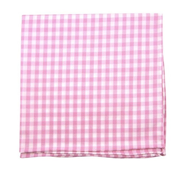 New Gingham Pink Pocket Square