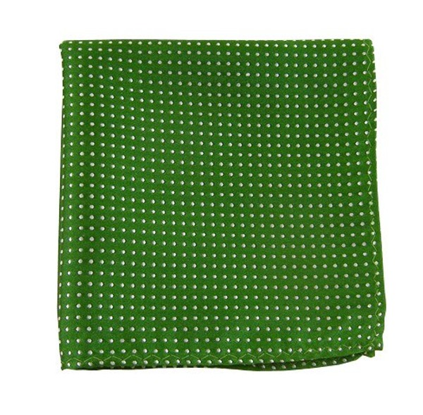 Pindot Kelly Green Pocket Square
