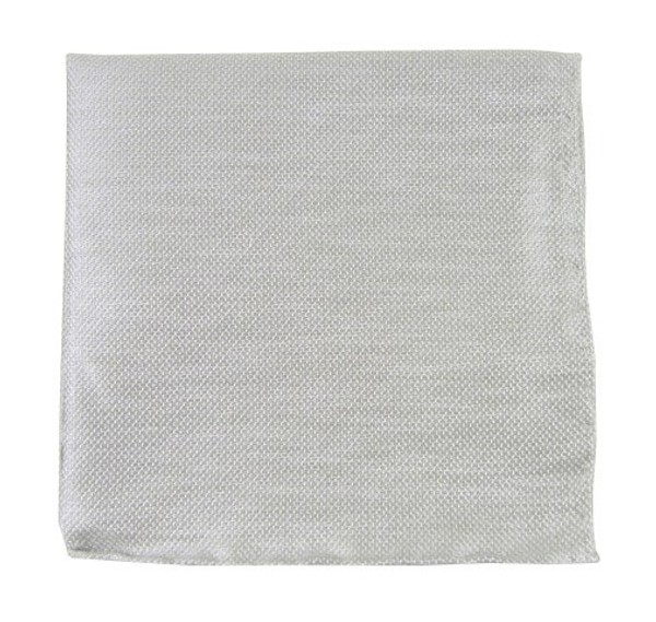 Solid Linen Silver Pocket Square