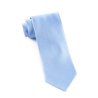 Solid Texture Light Cornflower Tie