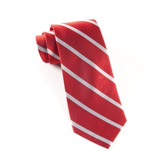 Trad Stripe Red Tie