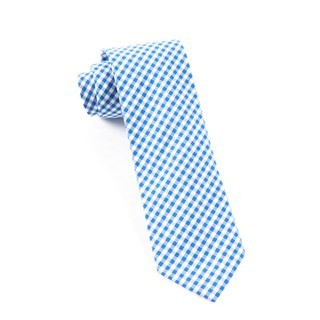 Novel Gingham Serene Blue Tie