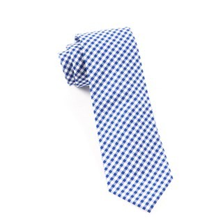 Novel Gingham Royal Blue Tie