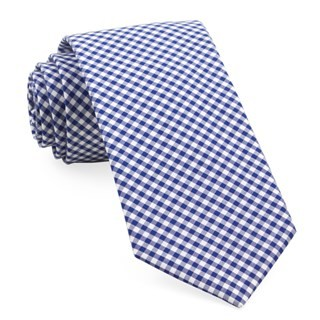 Petite Gingham Royal Blue Tie