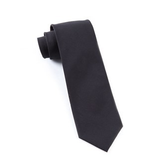 Solid Cotton Black Tie