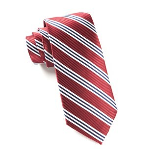 Bar Stripes Burgundy Tie