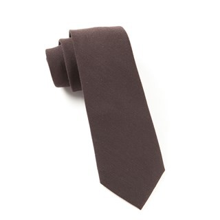 Solid Wool Chocolate Brown Tie