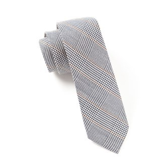 Glen H. Plaid Charcoal Tie