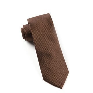 Solid Texture Chocolate Brown Tie