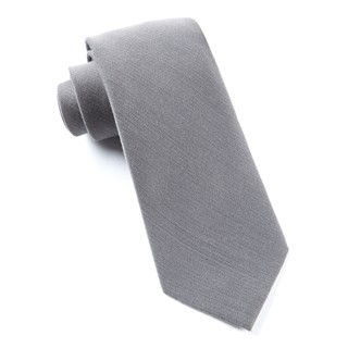 Solid Wool Grey Tie