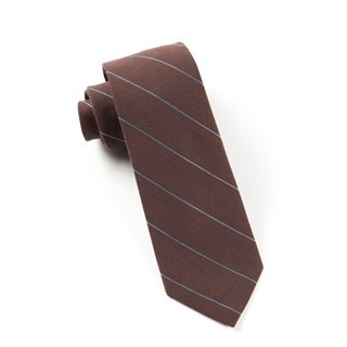 Wool Stripe Brown Tie