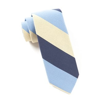 Big Wool Stripe Butter Tie