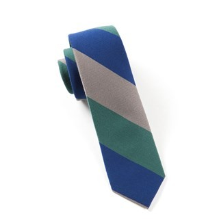 Big Wool Stripe Hunter Tie