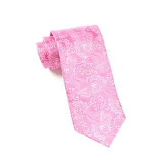 Twill Paisley Pink Tie