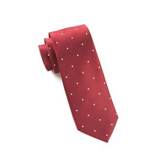 Satin Dot Burgundy Tie