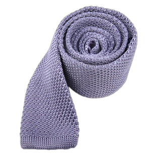 Knitted Lilac Tie