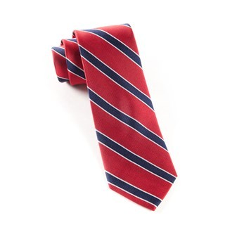 Honor Stripe Classic Red Tie