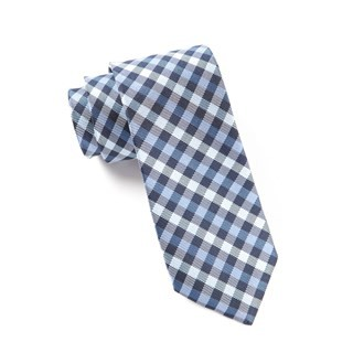 Prepster Plaid Blues Tie