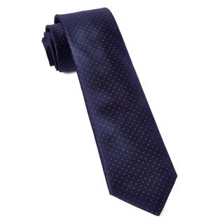 Mini Dots Matte Navy Tie