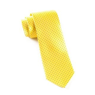 Mini Dots Yellow Tie