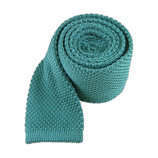 Knitted Aqua Tie