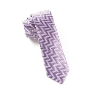 Native Herringbone Lavender Tie