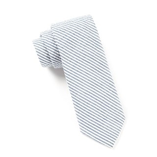 Seersucker Midnight Navy Tie
