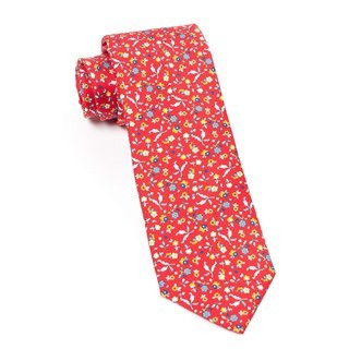 Fentone Floral Apple Red Tie