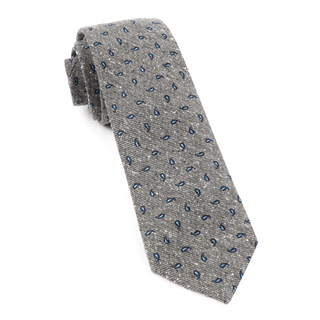 Paisley Timber Grey Tie