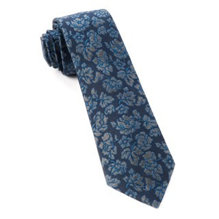 Intellect Floral Navy Tie