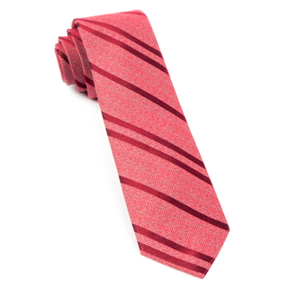 Wool Path Stripe Red Tie