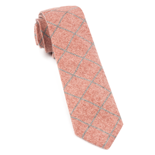 Printed Flannel Pane Orange Tie